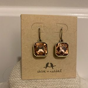 Rose square antique style earrings! NEW